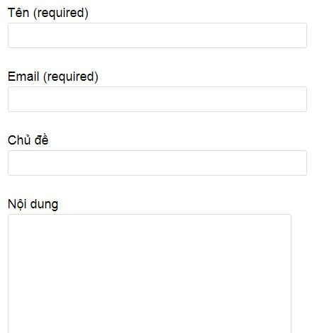 cài đặt plugin contact form 7