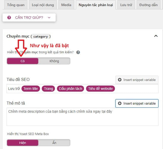 cấu hình plugin wordpress yoast seo on page