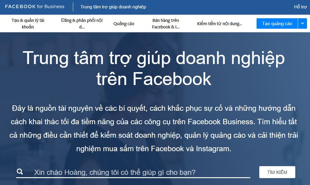 link chat support với Facebook